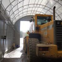 Sää / Talvisuoja sekä tankkauspiste Landtek Hall